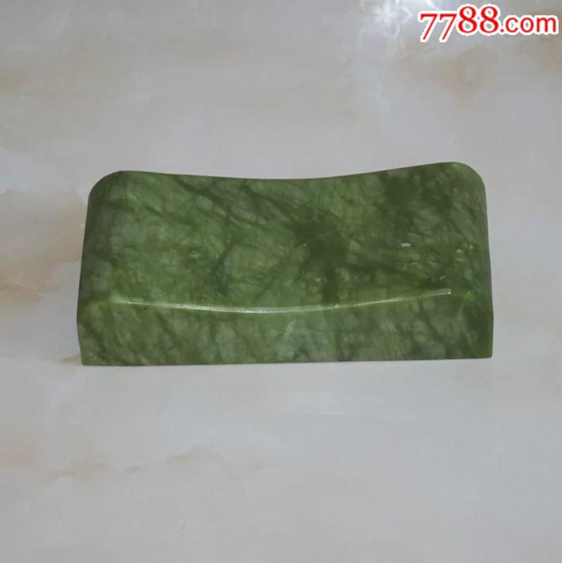 大型天然玉雕枕�^整��玉石做成直��28厘米厚5厘米(zc21378896)_