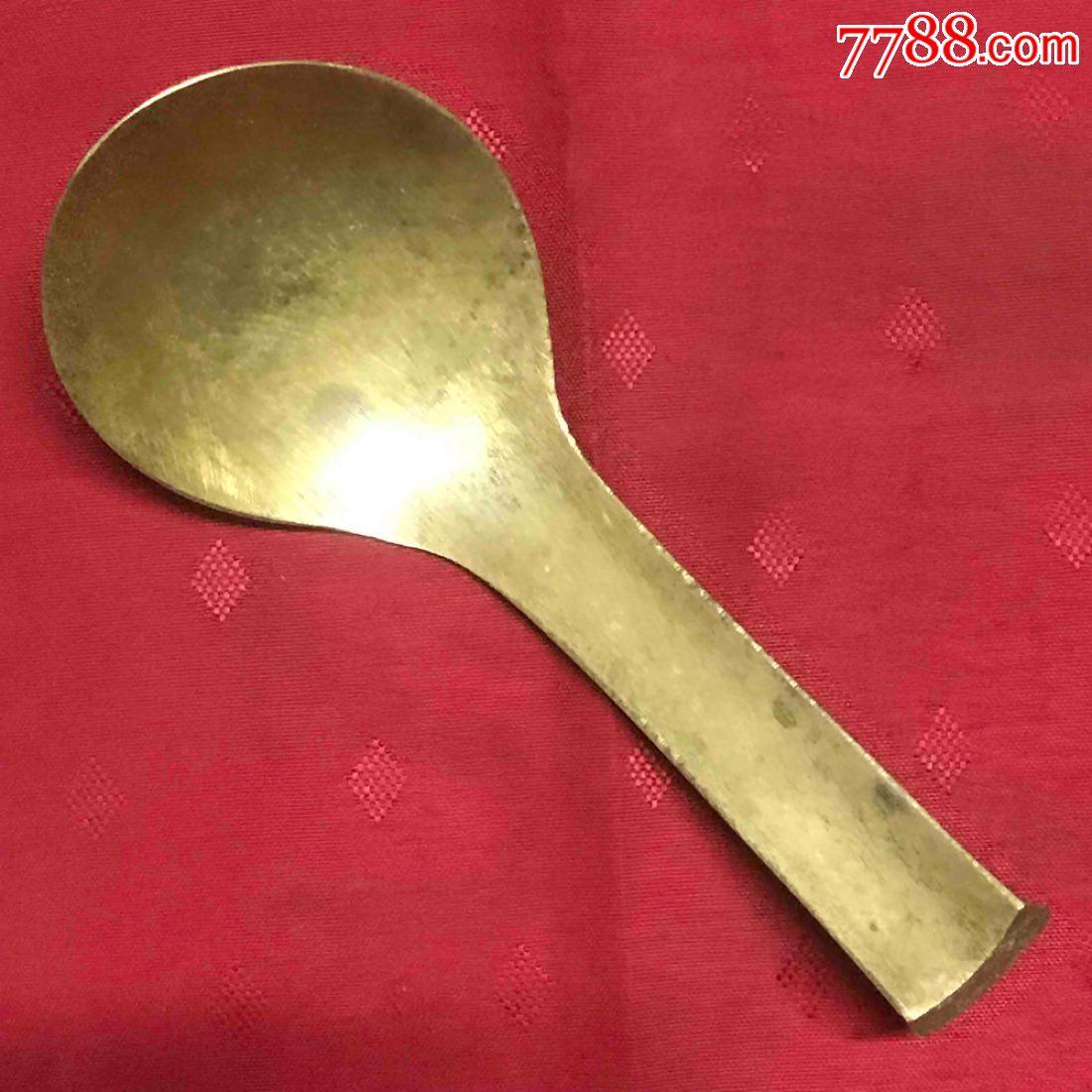 铜杂件小号铜几勺汤勺水勺粥勺品好怀旧日用保真(zc21411133)_