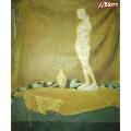 """*布面油彩靜物油畫""""女體塑像"""",帶簽名,60×50cm(10-21)(au21547067)_7788收藏__收藏熱線"""