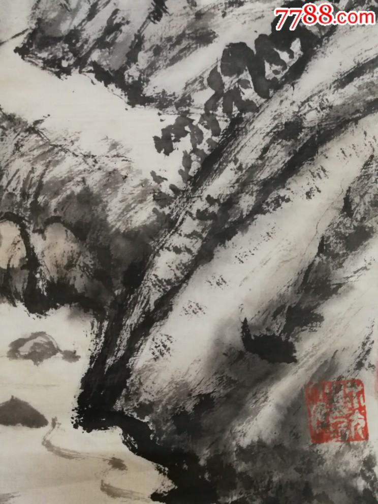 呂培明,精品山水軟片尺寸29×51品相如圖終身保真!_第2張_