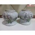 桃花美女罐一对-¥352 元_旧瓷器_7788网