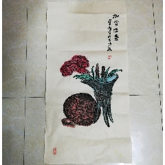 中美协会员朱宝成花卉老字画古董文玩古玩大写意花鸟画:(zc22246349)_7788收藏__收藏热线