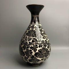 磁州窑刻花瓶(zc22247463)_7788收藏__收藏热线
