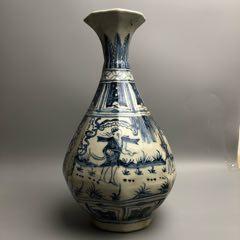 青花人物山水瓶(zc22247542)_7788收藏__收藏热线