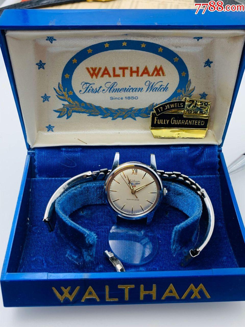 美国产钢壳中性款男款Waltham/华生古董腕表--正常走时调时间!(au22252506)_7788收藏__收藏热线