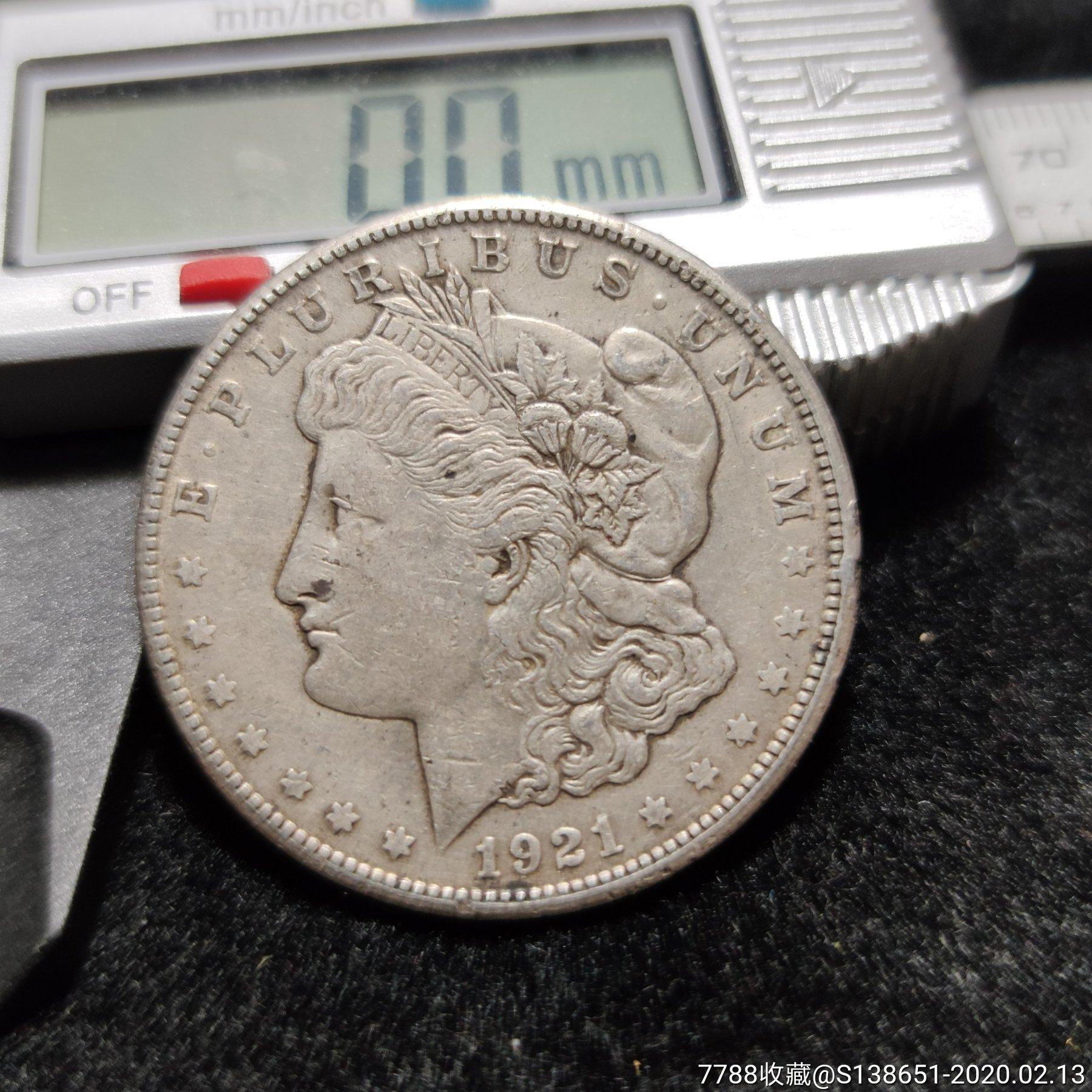 1921年美国一元银币(au22274788)_7788收藏__收藏热线