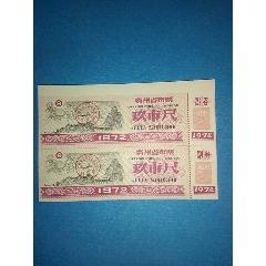 贵州省布票1973年玖市尺双联票