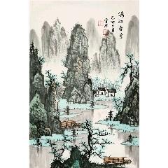 白雪石手繪山水【漓江春景】(zc22306967)_7788收藏__收藏熱線