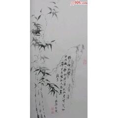 竹石圖(100*56Cm)