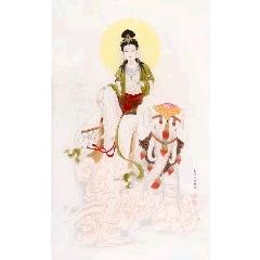 王美芳工筆絹畫觀音佛像(zc22373600)_7788收藏__收藏熱線