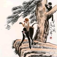徐培晨四尺斗方猴【吉祥圖】(zc22373640)_7788收藏__收藏熱線