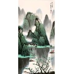 白雪石青綠山水【春江幽居】(zc22375559)_7788收藏__收藏熱線