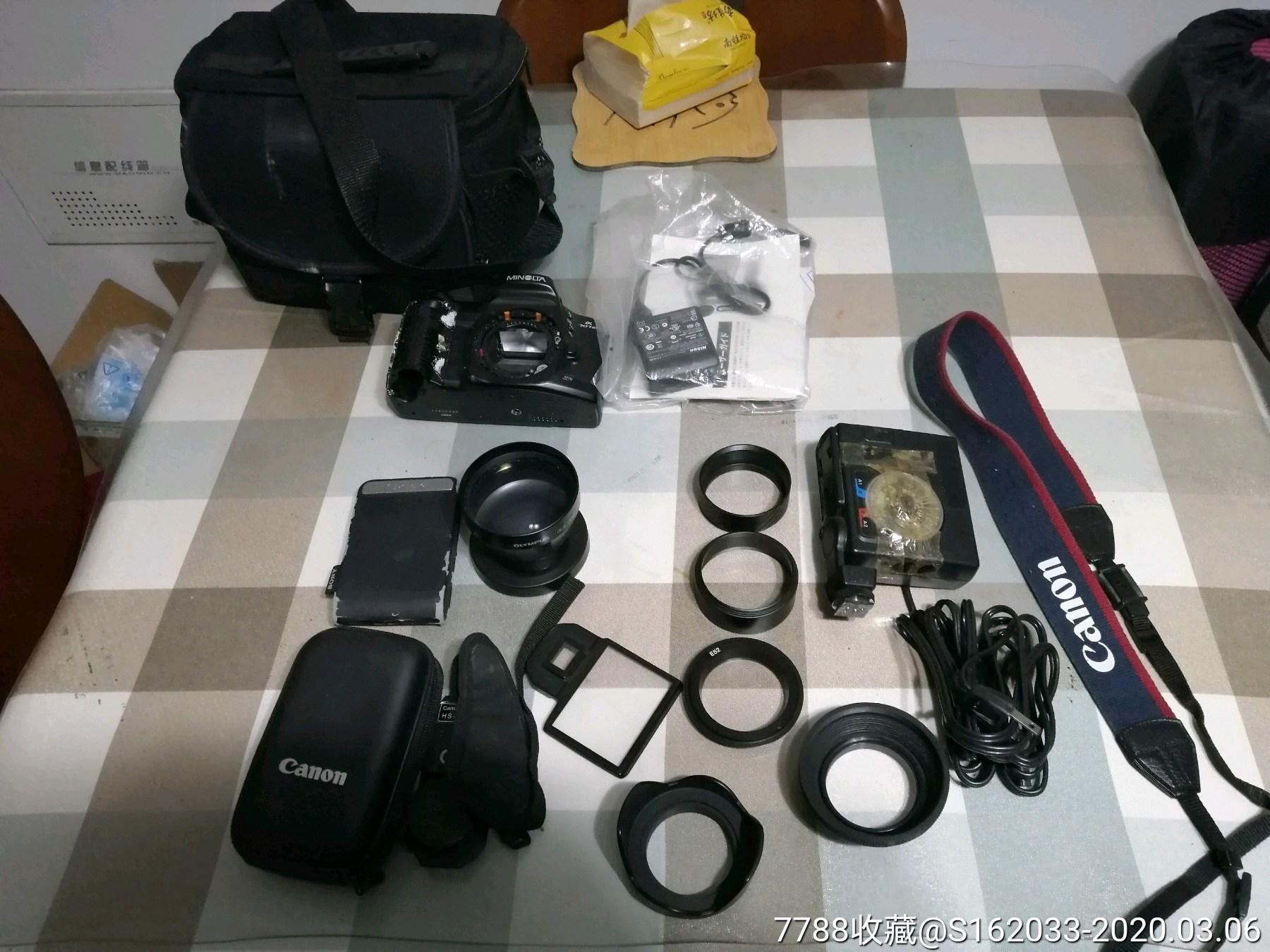 一堆相機相關物品(au22430217)_7788收藏__收藏熱線