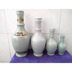 九十年代双沟酒厂青瓷酒瓶一组:一斤:半斤.二两:一两装共4瓶一套:完整。(au23204440)_7788收藏__收藏热线