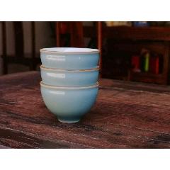 景德镇陶瓷霁蓝釉功夫茶杯单个品茗茶具纯手工霁蓝主人杯单杯(zc23238765)_7788收藏__收藏热线