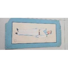 中國人民解放軍總后勤部第五套軍服定裝手繪樣稿,(海軍(au24271202)_7788收藏__收藏熱線