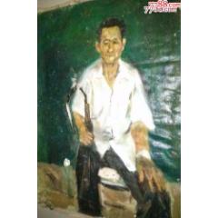 """油画家布面人物老油画-""""烟"""",85×62cm(au24436052)_7788商城__七七八八商品交易平台(7788.com)"""