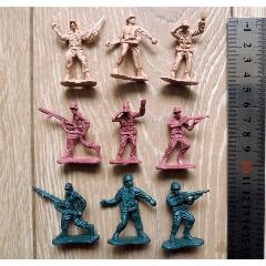 老玩具收藏2010A-早期小號二戰美軍小兵人9個合售(au24552857)_7788舊貨商城__七七八八商品交易平臺(7788.com)