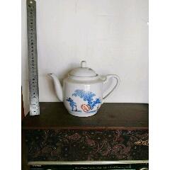 民国-解放初粉彩茶壶