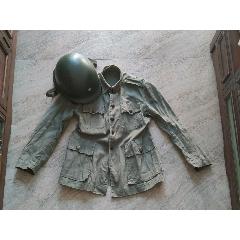 解放戰爭時期鋼盔及軍服一套物品(au24891056)_7788舊貨商城__七七八八商品交易平臺(7788.com)