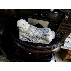 老瓷塑青花娃娃瓷枕(au24973675)_7788舊貨商城__七七八八商品交易平臺(7788.com)