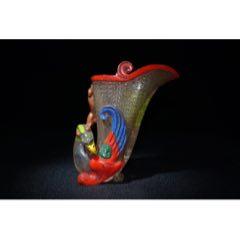 琉璃彩繪壽杯,高14厘米,寬10厘米,重482克,(au25031101)_7788舊貨商城__七七八八商品交易平臺(7788.com)