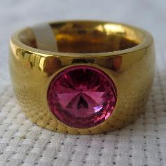 銀鎏金鑲寶石戒指寶石戒指(au25121875)_7788舊貨商城__七七八八商品交易平臺(7788.com)