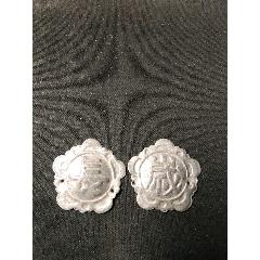 老銀帽花兩個-¥10 元_其他銀器_7788網