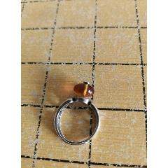 銀戒指(鑲琥珀)(au25140767)_7788舊貨商城__七七八八商品交易平臺(7788.com)