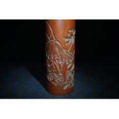 竹雕香筒,高25厘米,寬7厘米,重312克,(au25144413)_7788舊貨商城__七七八八商品交易平臺(7788.com)