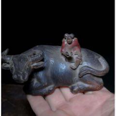 清民國,黑陶紫砂牧童騎牛雕塑(au25322904)_7788舊貨商城__七七八八商品交易平臺(7788.com)
