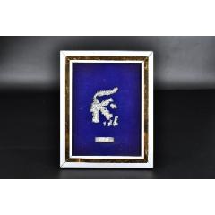 (P9444)日本購回《相框擺件》一件玻璃面金屬框相框內金屬制蘇拉威西島地(au25333927)_7788舊貨商城__七七八八商品交易平臺(7788.com)
