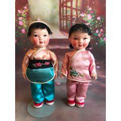 一對老娃娃,高約22厘米,品如圖。(au25368160)_7788舊貨商城__七七八八商品交易平臺(7788.com)