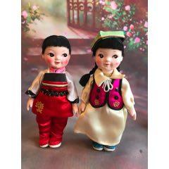 一對小娃娃,高約16厘米,品相如圖。(au25368186)_7788舊貨商城__七七八八商品交易平臺(7788.com)