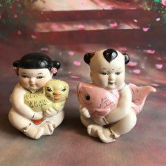 一對陶瓷娃娃,高約11厘米。(au25400368)_7788舊貨商城__七七八八商品交易平臺(7788.com)