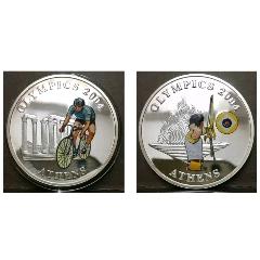 2004雅典奧運會彩色純銀紀念幣(au25430366)_7788舊貨商城__七七八八商品交易平臺(7788.com)