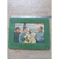 老木制玻璃相框,毛主席,周總理,朱總司令(au25430602)_7788舊貨商城__七七八八商品交易平臺(7788.com)