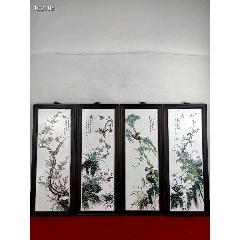 梅蘭竹菊瓷板畫一套,手繪畫花鳥,精美絕倫,喜歡的朋友找我哦!(au25468261)_7788舊貨商城__七七八八商品交易平臺(7788.com)