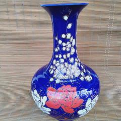 粉彩藍釉大花瓶(au25476605)_7788舊貨商城__七七八八商品交易平臺(7788.com)