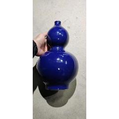 W560七十年藍釉葫蘆瓶(高32厘米)(au25478919)_7788舊貨商城__七七八八商品交易平臺(7788.com)