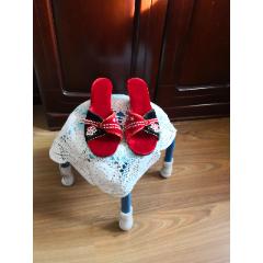 全新出口創匯女士絨面穿珠紅鞋(au25489017)_7788舊貨商城__七七八八商品交易平臺(7788.com)