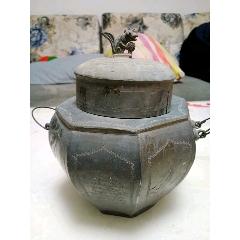 老物件八面雕刻錫壺茶葉罐(au25702719)_7788舊貨商城__七七八八商品交易平臺(7788.com)