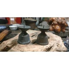 老文房青铜烛台