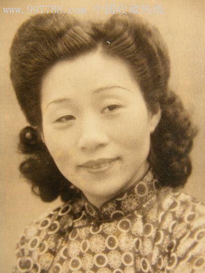 民国老照片:明信片式的新款发型美女,原版!_第2张