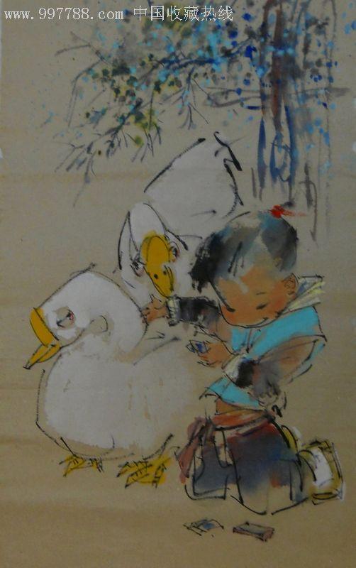 水墨写意人物童趣-au1396513-人物国画原作-加价-7788图片