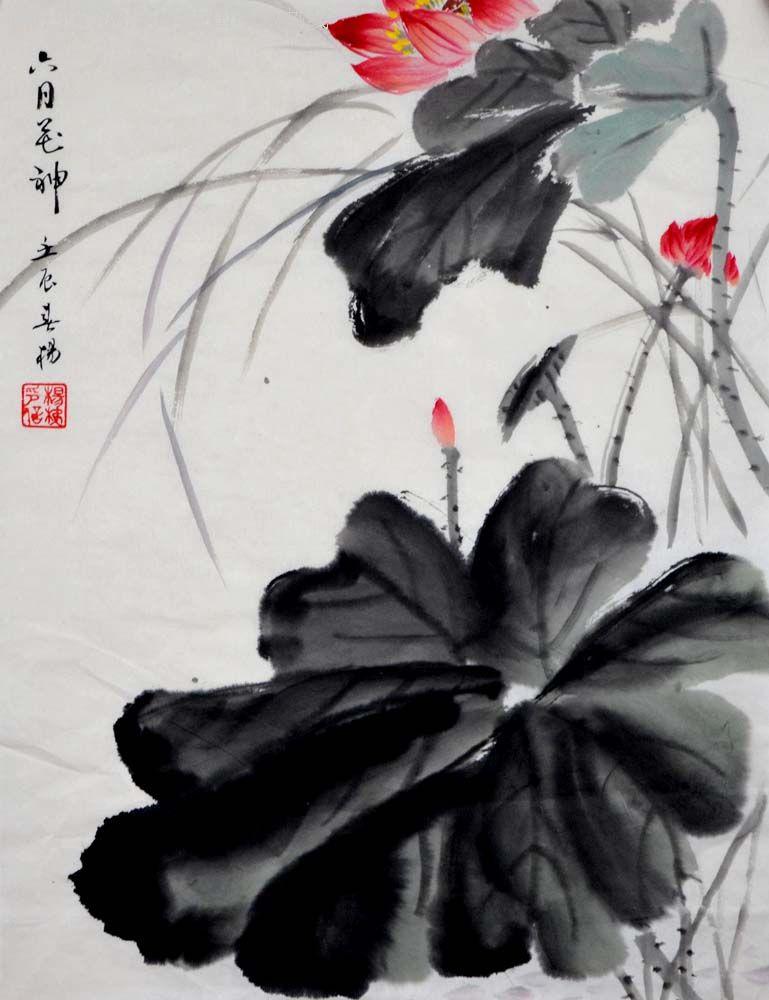 国画-荷花小品--12-0414-10图片