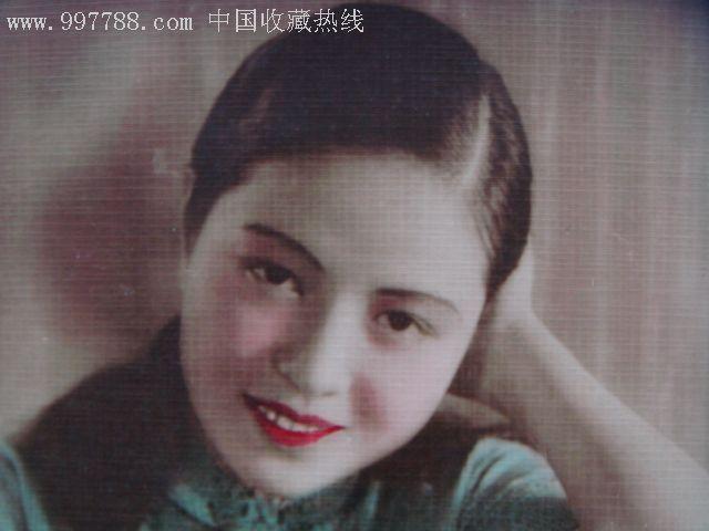 民国美女明星_民国中国华美烟公司赠美女明星彩色照片
