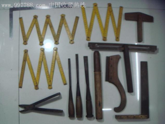 老木工工具一套26件图片