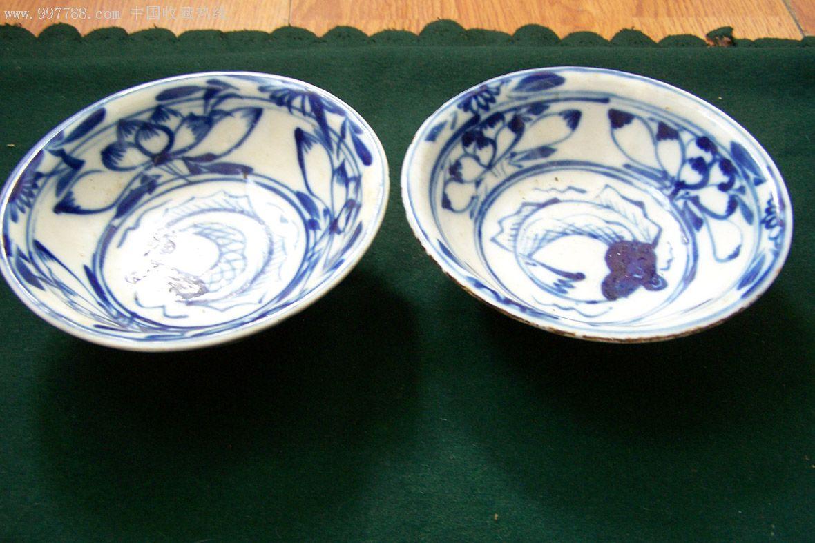 青花瓷碗—中号碗(清末民初时期)_价格699元_第2张图片