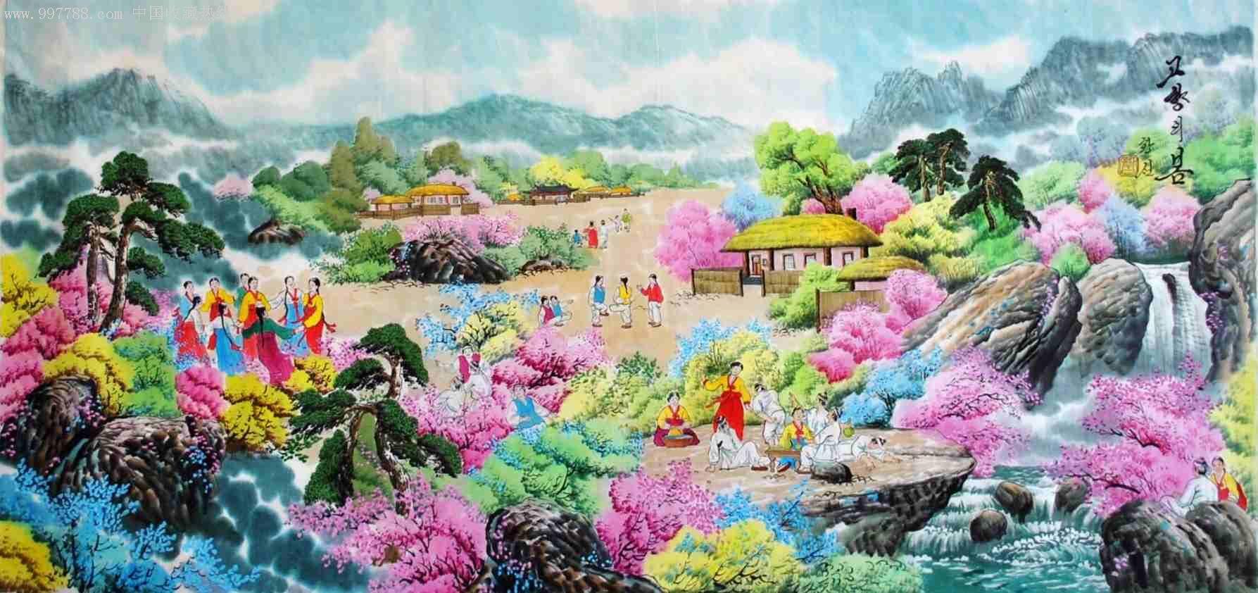 朝鲜民俗画_第3张图片